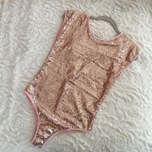 Sequined One Piece — Pink — Brand new/Never worn